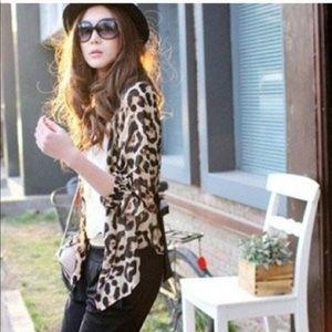 Sheer Chiffon Leopard Cover